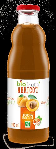 Pur jus d'abricot bio Biofrutti