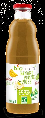 Pur jus de Banane Pomme Poire bio Biofrutti