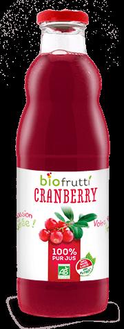 Pur jus de cranberry bio Biofrutti
