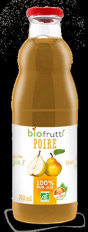 Pur jus de poire bio Biofrutti