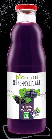 Pur jus de mûre-myrtille bio Biofrutti