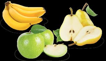 Banane pomme poire