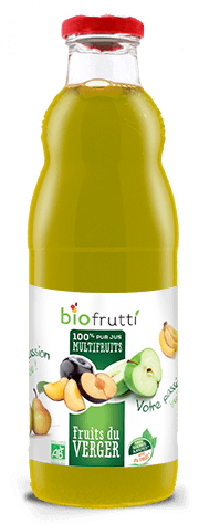 100% pur jus multifruits fruits du verger Biofrutti