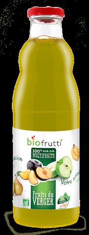 100% pur jus multifruits fruits du verger Biofrutti