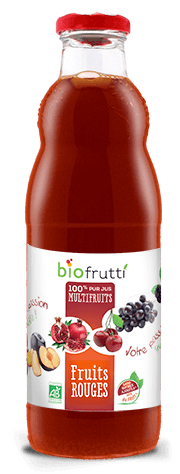 100% pur jus multifruits fruits rouges Biofrutti