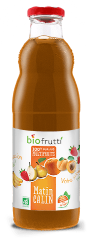 100% pur jus multifruits matin calin Biofrutti