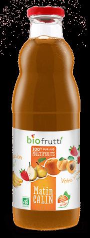 100% pur jus multifruits matin calin Biofrutti