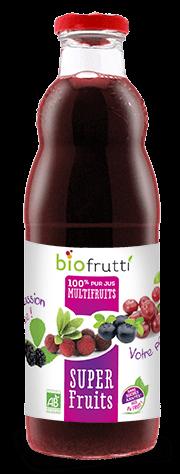100% pur jus multifruits super fruits Biofrutti