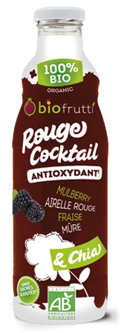 Rouge cocktail boisson DETOX Biofrutti